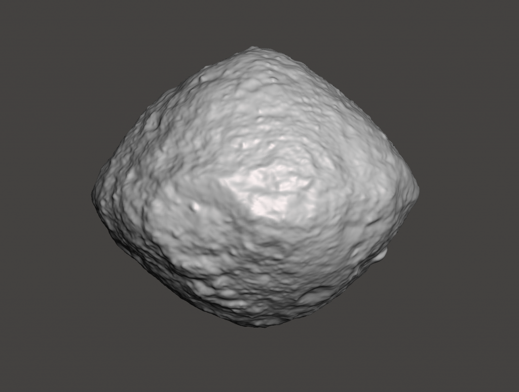 This image has an empty alt attribute; its file name is bennu.orex_-1024x774.png